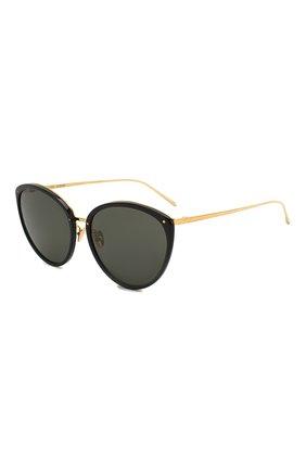 Мужские солнцезащитные очки LINDA FARROW черного цвета, арт. LFL1019C6 SUN | Фото 1