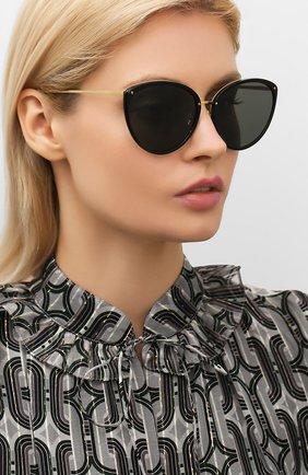 Мужские солнцезащитные очки LINDA FARROW черного цвета, арт. LFL1019C6 SUN | Фото 2
