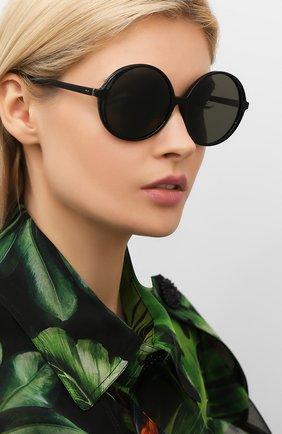 Мужские солнцезащитные очки LINDA FARROW черного цвета, арт. LFL989C1 SUN | Фото 2