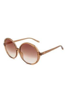 Женские солнцезащитные очки LINDA FARROW коричневого цвета, арт. LFL989C2 SUN | Фото 1