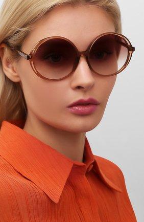 Женские солнцезащитные очки LINDA FARROW коричневого цвета, арт. LFL989C2 SUN | Фото 2