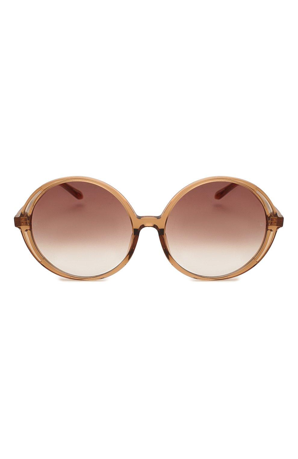 Женские солнцезащитные очки LINDA FARROW коричневого цвета, арт. LFL989C2 SUN | Фото 3