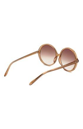 Женские солнцезащитные очки LINDA FARROW коричневого цвета, арт. LFL989C2 SUN | Фото 4