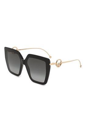 Женские солнцезащитные очки FENDI черного цвета, арт. 0410 807   Фото 1