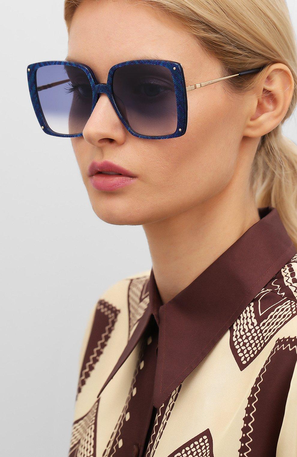 Женские солнцезащитные очки MISSONI синего цвета, арт. MIS0002 S6F | Фото 2