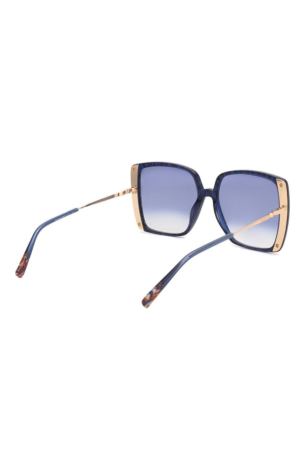 Женские солнцезащитные очки MISSONI синего цвета, арт. MIS0002 S6F | Фото 4