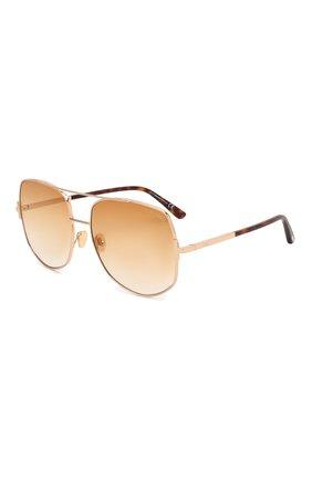 Мужские солнцезащитные очки TOM FORD золотого цвета, арт. TF783 28F | Фото 1