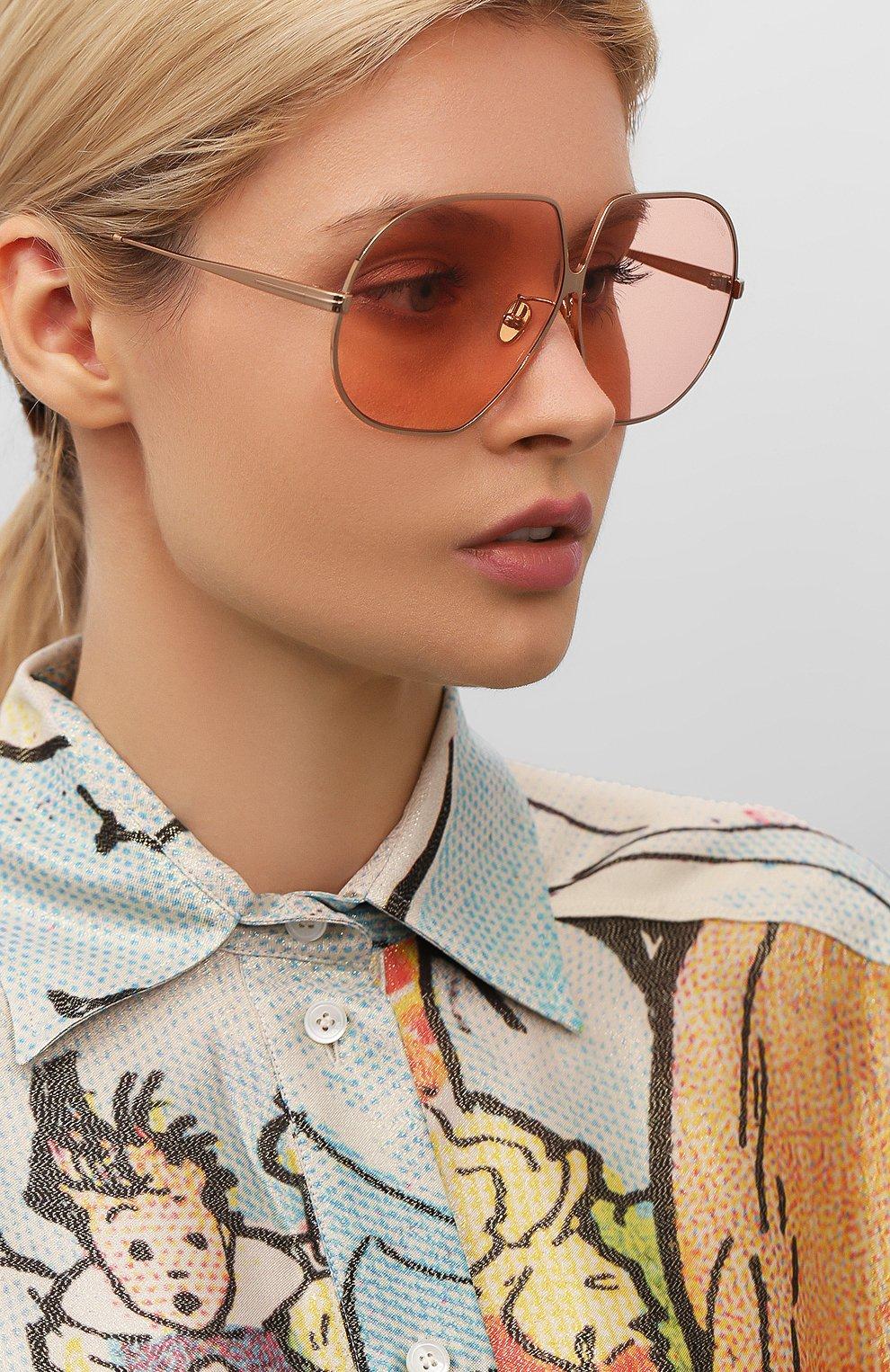 Женские солнцезащитные очки TOM FORD розового цвета, арт. TF785 33E   Фото 2