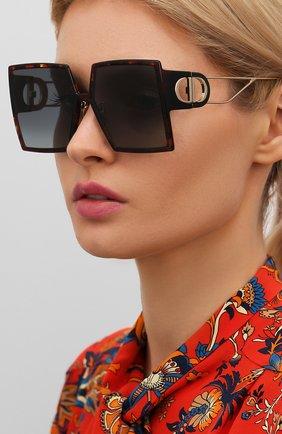 Женские солнцезащитные очки DIOR коричневого цвета, арт. 30M0NTAIGNE EPZ   Фото 2