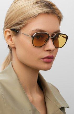 Женские солнцезащитные очки DITA желтого цвета, арт. RIKT0N-TYPE 402/01 | Фото 2