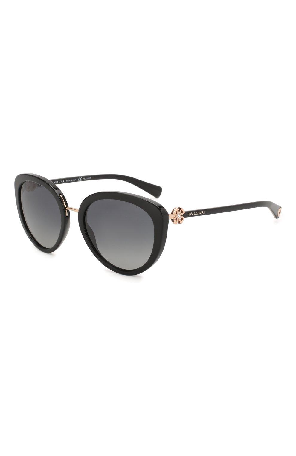 Женские солнцезащитные очки BVLGARI черного цвета, арт. 8226B-501/T3 | Фото 1