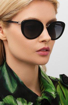 Женские солнцезащитные очки BVLGARI черного цвета, арт. 8226B-501/T3 | Фото 2