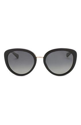 Женские солнцезащитные очки BVLGARI черного цвета, арт. 8226B-501/T3 | Фото 3