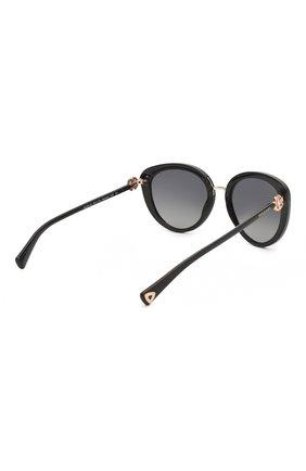 Женские солнцезащитные очки BVLGARI черного цвета, арт. 8226B-501/T3 | Фото 4