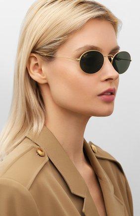 Женские солнцезащитные очки RAY-BAN золотого цвета, арт. 3547-919631 | Фото 2