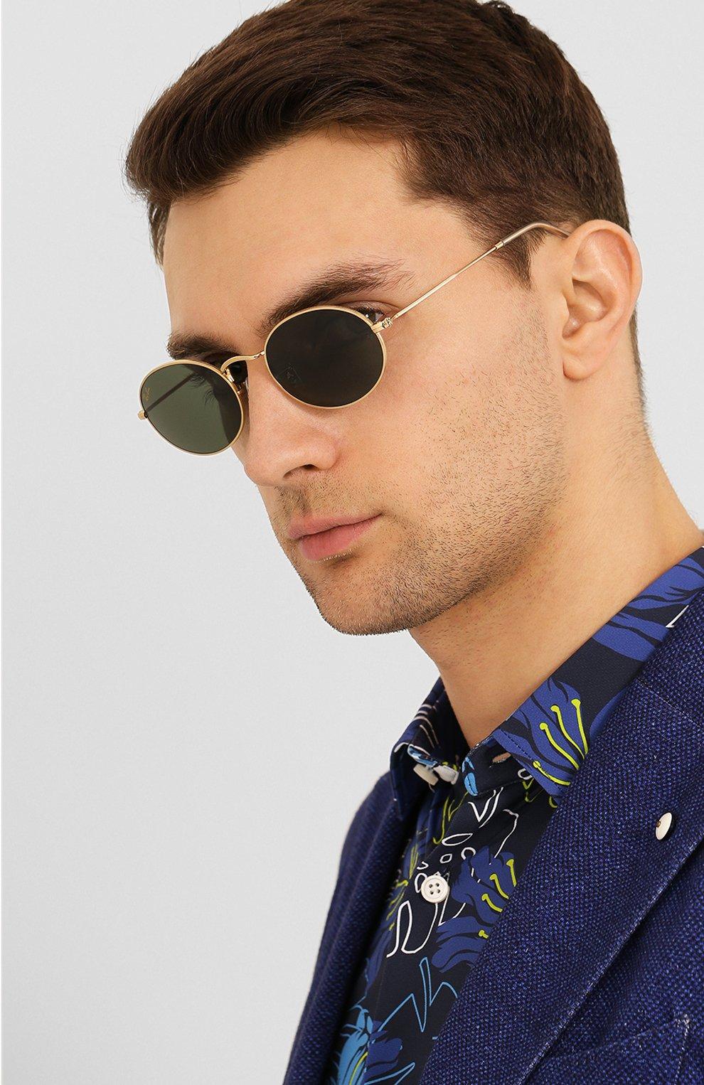 Женские солнцезащитные очки RAY-BAN золотого цвета, арт. 3547-919631 | Фото 3