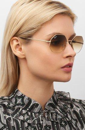 Мужские солнцезащитные очки RAY-BAN золотого цвета, арт. 1972-914751   Фото 2