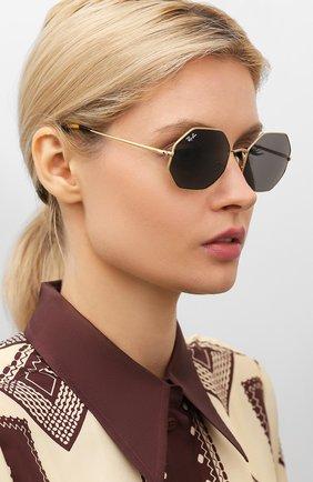 Мужские солнцезащитные очки RAY-BAN золотого цвета, арт. 1972-9150B1   Фото 2