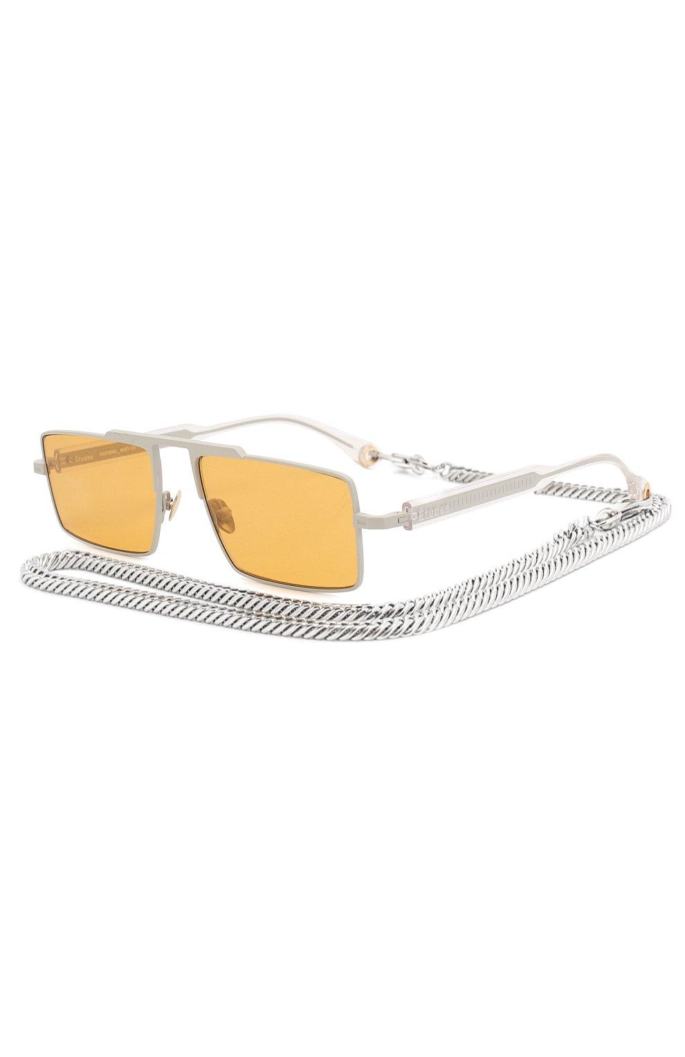 Женские солнцезащитные очки ÉTUDES оранжевого цвета, арт. EASTERN GREY CR WITH CHAIN | Фото 1
