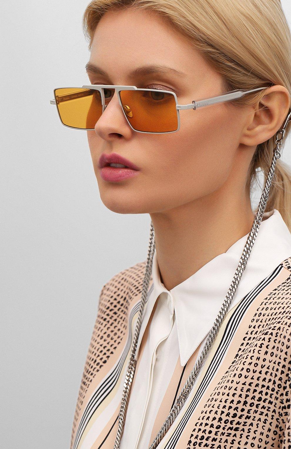 Женские солнцезащитные очки ÉTUDES оранжевого цвета, арт. EASTERN GREY CR WITH CHAIN | Фото 2