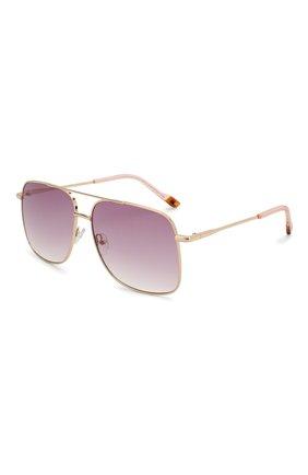 Женские солнцезащитные очки LE SPECS фиолетового цвета, арт. EQUILATERAL/1926348   Фото 1 (Тип очков: С/з; Оптика Гендер: оптика-женское; Очки форма: Прямоугольные)