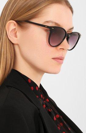 Женские солнцезащитные очки LE SPECS черного цвета, арт. LQQKS/1926359   Фото 2 (Тип очков: С/з; Оптика Гендер: оптика-женское; Очки форма: Круглые)