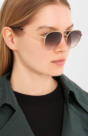 Женские солнцезащитные очки LE SPECS золотого цвета, арт. SAVAGE/1926366   Фото 2 (Тип очков: С/з; Оптика Гендер: оптика-унисекс; Очки форма: Круглые)