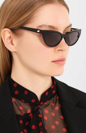 Женские солнцезащитные очки LE SPECS черного цвета, арт. BUNNY H0P/1926341   Фото 2 (Тип очков: С/з; Очки форма: Cat-eye; Оптика Гендер: оптика-женское)