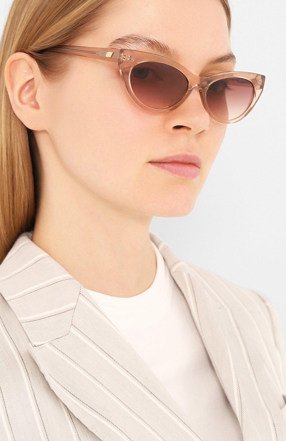 Женские солнцезащитные очки LE SPECS коричневого цвета, арт. BUNNY H0P/1926342   Фото 2