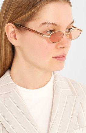 Женские солнцезащитные очки LE SPECS коричневого цвета, арт. S0RCERER/1926326   Фото 2 (Тип очков: С/з; Очки форма: Овальные; Оптика Гендер: оптика-унисекс)
