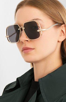 Мужские солнцезащитные очки KAREN WALKER черного цвета, арт. HYPATIA/2001877 | Фото 2