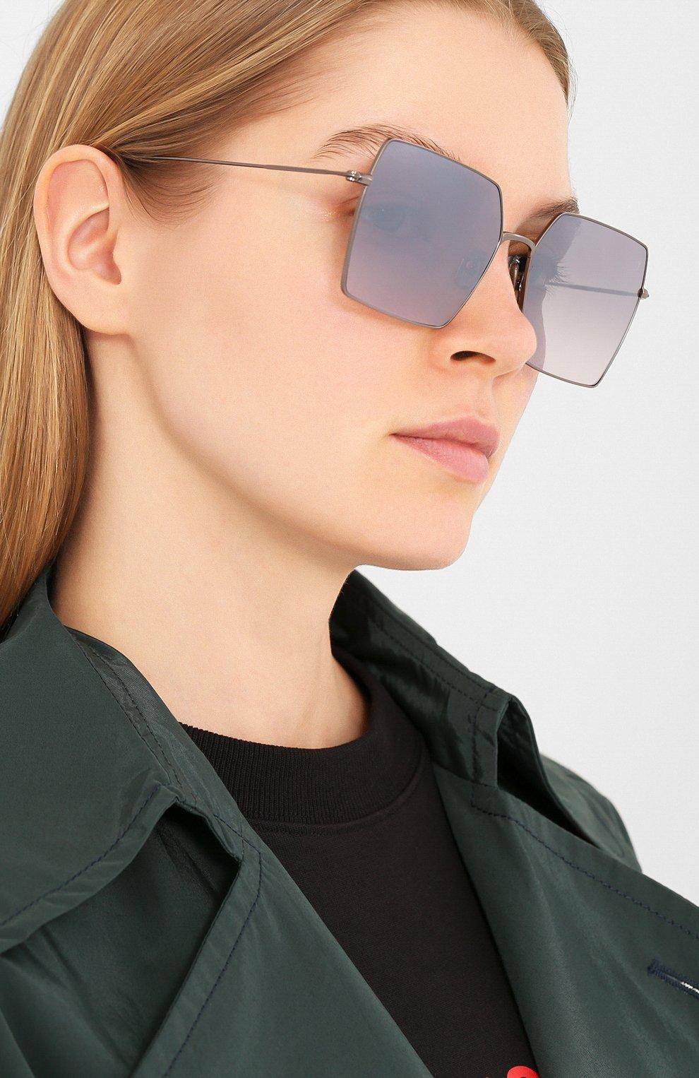 Женские солнцезащитные очки EYEPETIZER серого цвета, арт. R0DINE 3-17F | Фото 2
