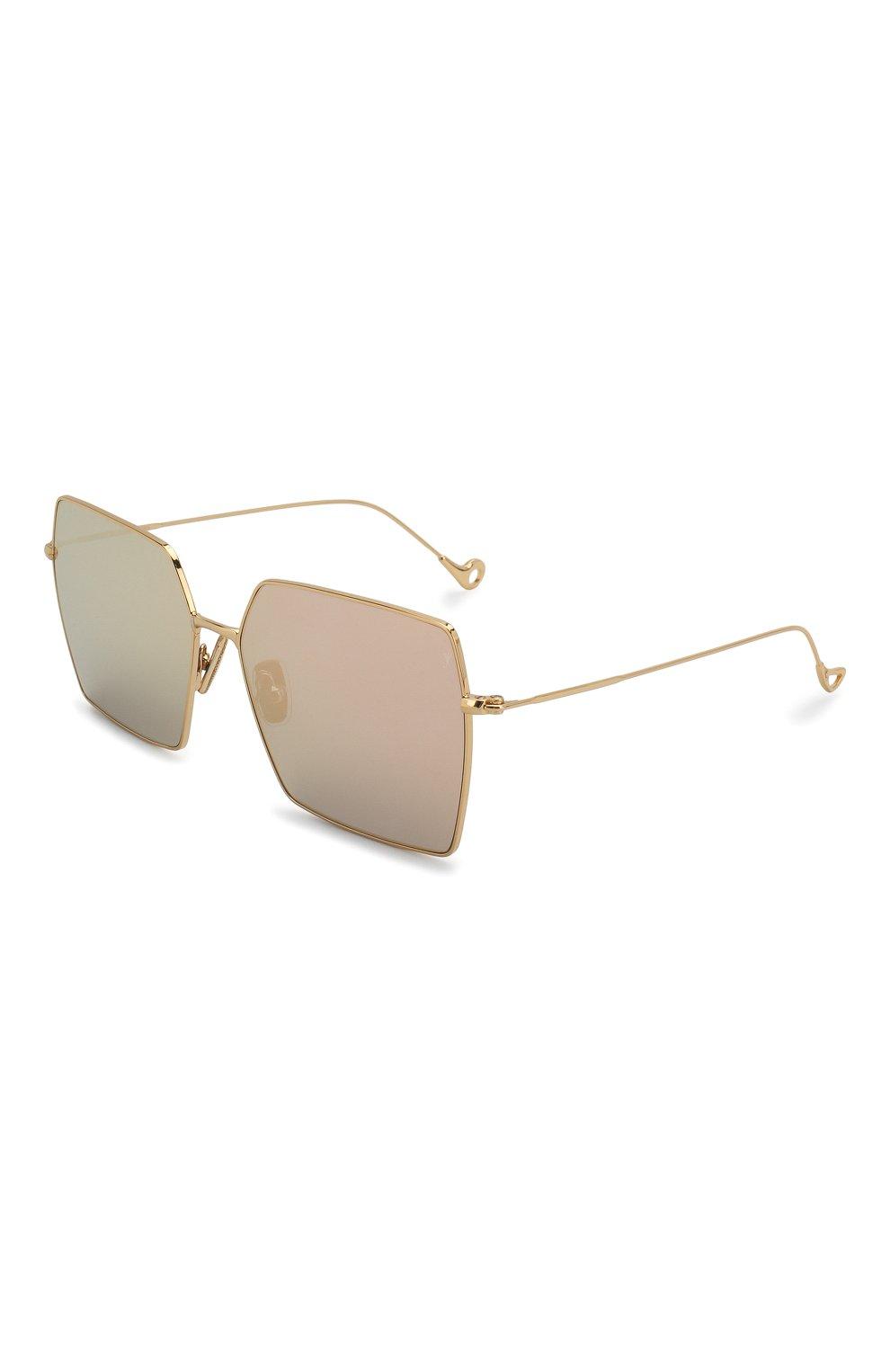 Женские солнцезащитные очки EYEPETIZER золотого цвета, арт. R0DINE 4-7C   Фото 1 (Тип очков: С/з; Очки форма: Квадратные; Оптика Гендер: оптика-унисекс)