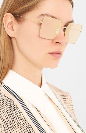 Женские солнцезащитные очки EYEPETIZER золотого цвета, арт. R0DINE 4-7C   Фото 2 (Тип очков: С/з; Очки форма: Квадратные; Оптика Гендер: оптика-унисекс)