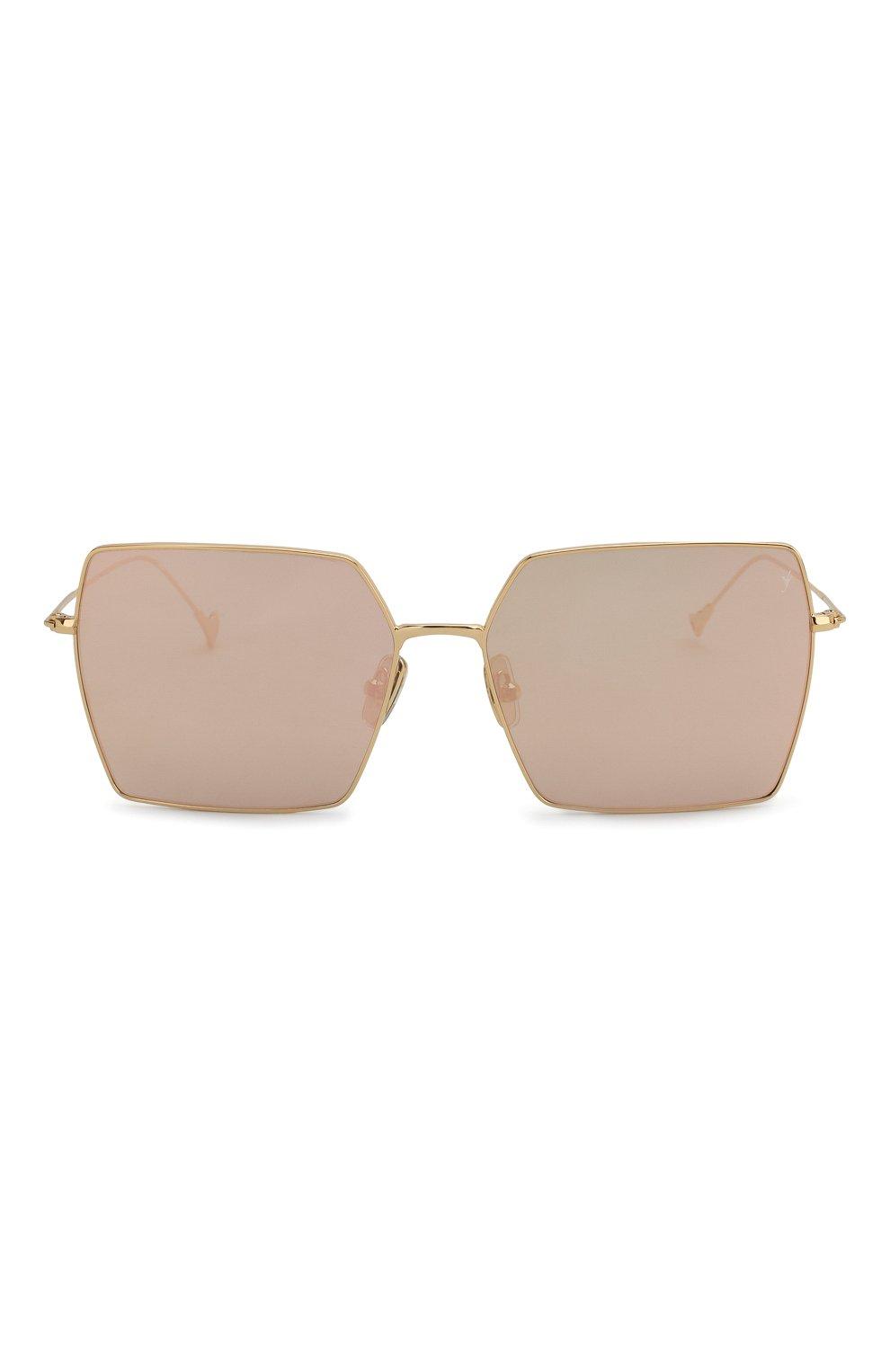 Женские солнцезащитные очки EYEPETIZER золотого цвета, арт. R0DINE 4-7C   Фото 3 (Тип очков: С/з; Очки форма: Квадратные; Оптика Гендер: оптика-унисекс)