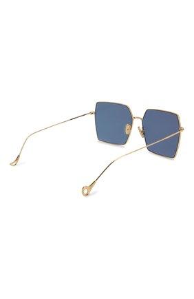Женские солнцезащитные очки EYEPETIZER золотого цвета, арт. R0DINE 4-7C   Фото 4 (Тип очков: С/з; Очки форма: Квадратные; Оптика Гендер: оптика-унисекс)