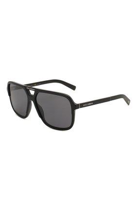 Мужские солнцезащитные очки DOLCE & GABBANA черного цвета, арт. 4354-193481 | Фото 1