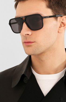 Мужские солнцезащитные очки DOLCE & GABBANA черного цвета, арт. 4354-193481 | Фото 2