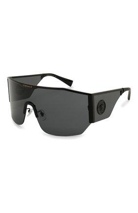 Женские солнцезащитные очки VERSACE черного цвета, арт. 2220-100987 | Фото 1