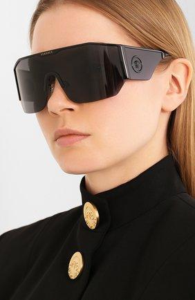 Женские солнцезащитные очки VERSACE черного цвета, арт. 2220-100987 | Фото 2