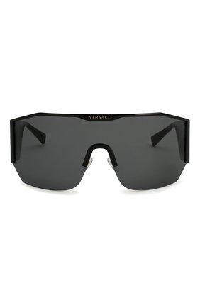 Женские солнцезащитные очки VERSACE черного цвета, арт. 2220-100987 | Фото 3