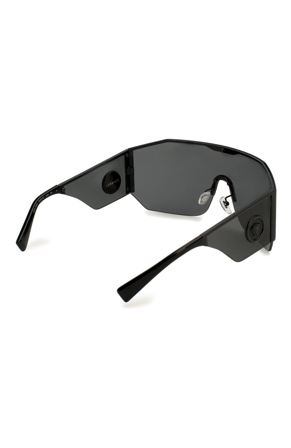 Женские солнцезащитные очки VERSACE черного цвета, арт. 2220-100987 | Фото 4
