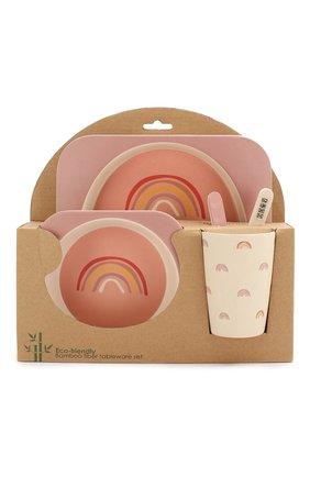 Детского набор посуды ninni BLOOMINGVILLE розового цвета, арт. 92304057 | Фото 1