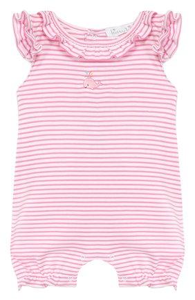 Детское хлопковый комбинезон KISSY KISSY розового цвета, арт. KGR03547I | Фото 1