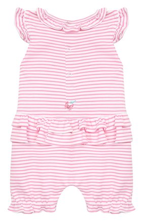 Детское хлопковый комбинезон KISSY KISSY розового цвета, арт. KGR03547I | Фото 2