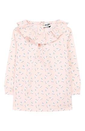 Детское хлопковая блузка LES LUTINS розового цвета, арт. 20E118/FLEUR | Фото 1
