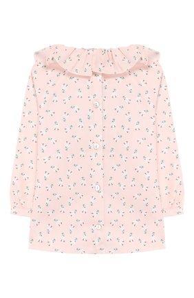 Детское хлопковая блузка LES LUTINS розового цвета, арт. 20E118/FLEUR | Фото 2