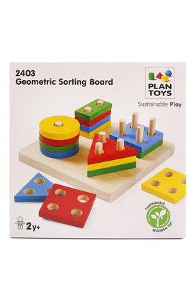 Детского игрушка сортер доска PLAN TOYS разноцветного цвета, арт. 2403 | Фото 1