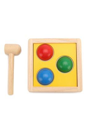 Детского игрушка забивалка молоток PLAN TOYS разноцветного цвета, арт. 9424 | Фото 2