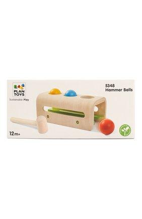 Детского игрушка забивалка с шарами PLAN TOYS разноцветного цвета, арт. 5348 | Фото 1
